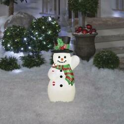 24 Pre-lit Vintage Style Snowman Christmas Holiday Outdoor Light Decor 5' Cord