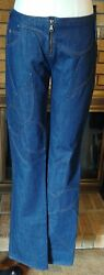 Dolce And Gabbana Embroidered Petals Denim Blue Jeans Nwt 1130 Size 42
