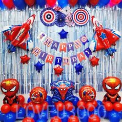 Spiderman Party Decorations Party supplies Spiderman Balloons 84 Pcs US seller $21.99