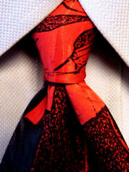 Rm Style By Ralph Marlin Red Silk Tie A4067