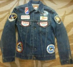 Vintage 70's Levi's jacket with Apollo mission Honda 360 & Air force patches