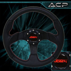 320mm Performance Steering Wheel Black/red Stitch 6 Bolt Racing Track