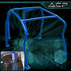 For 99-05 Vw Vag Euro Gti Golf Mk4 Mkiv 6 Point Roll Cage Racing Track Blue