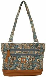 Stone Mountain Grey Paisley Quilted Donna Tote Handbag One Size Grey multi $16.80