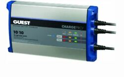 Guest 120v Input On-board 20 Amp 2 Bank Battery Charger 2720a Boat Marine Rv