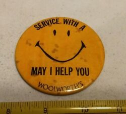 Vintage Woolworth Department Store Employee Advertising Pin