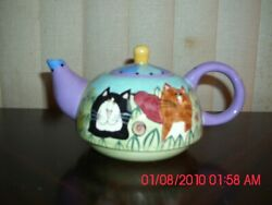Excellent Used Catzilla Small Teapot - 2001 - Candace Reiter Design And Art Teapot