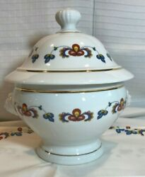 Porsgrund Porcelain Farmers Rose Tureen With Lid Norwegian Discontinued