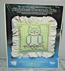 Valiant Crafts Owl Create Your Own Pillow Chicken Scratch Craft Kit 3106 Gingham
