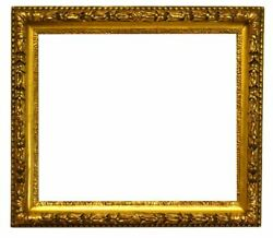 English 1840 Gilded Scoop Picture Frame With Laurel And Berry Motif 22x26 Sku