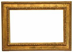 Italian 19th Century Casseta Picture Frame With Egg And Dart Border 23x37 Sku