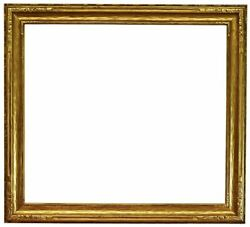 American 1910 Arts And Crafts Carved Gilded Picture Frame 32x36 Sku 1108