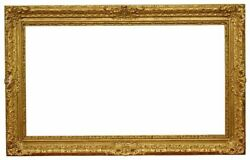 English 19th Century Gold Leaf Lely Picture Frame 29x52 Sku 1122