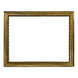 Italian 18th Century Scoop Gold Leaf Picture Frame 29x38 Sku 2214