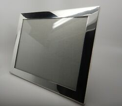Antique Large Plain Sterling Silver Photo Frame High Quality10.5 X 8.5 Inch