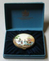 Bilston And Battersea Halcyon Days 1972 Oval Enamel Christmas Box Limited Edition