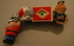 1979 Hallmark Little Tree Trimmers Ornament Thimble Soldier Angel Matchbox Mouse