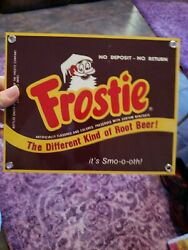 Frostie Soda Pop Advertising Matel Sign 10x8 Inches