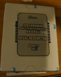 2004 Bowman Draft Picks And Prospects Baseball Aflac Redemption 5 Set Lot New Rc