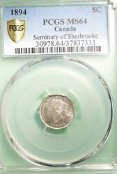 1894 Canada 5 Cent - Graded - Pcgs Ms-64