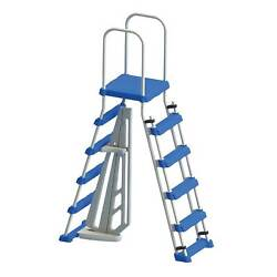 Swimline Above Ground Pool A Frame Ladder With Barrier For 48 Pools For Parts