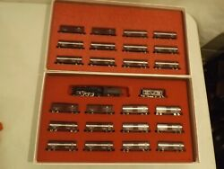 N Gauge Con-cor Pennsy Rr Merchandise Service Set + Add On Set In Orig Boxes