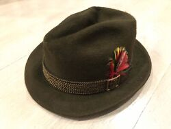 Vintage Stetson 3x Beaver Fedora Hat Size 7-1/4 - Great Condition