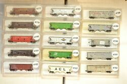 N Scale Con Cor And Misc Cars Sold Individually Up Gn Atsf Bn Ln Acl Ns Wp Sf