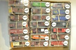N Scale Micro-trains Sold Individually 14.95 Ea Wp Gn Cp Nyc Up Mp Sf Atsf Fec