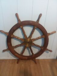 Beautiful Antique Nautical Ships Wheel---just Reduced For Quick Sale