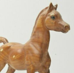 Breyer? Stone? Horse 6X6in Toy Pony Foal Wooden color Tail Up #1