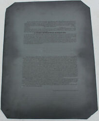 Antique Los Angeles Contract Bond Lithograph Offset Printing Press Metal Litho
