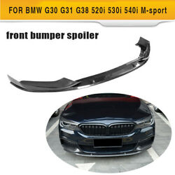 For Bmw 5series G30 G31 G38 Front Bumper Lip Spoiler Splitter 3pcs Carbon Fiber