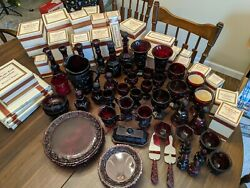 Avon Cape Cod Ruby Red Set Dishes Dinner Service