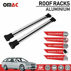 Roof Rack Cross Bars Luggage Carrier Silver For Mercedes C Class S203 2002-2005