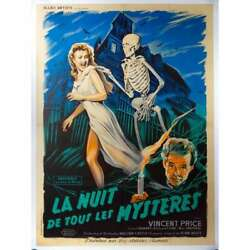 House On Haunted Hill Rare Linenbacked Movie Poster - 1959 - Vincent Price, Will