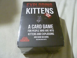 New Full Factory Sealed Case Exploding Kittens 6 Boxes Nsfw Cat Card Game Rare