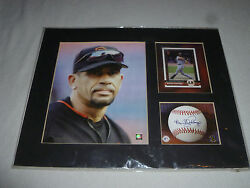 Matted Benito Santiago San Francisco Giants Limited Toon Art Photo Card Le Mlbp