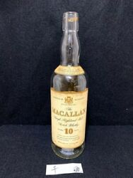 Macallan 10yrs Vintage Old Type Empty Bottle Scotch Whiskey Suntory Imported