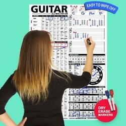Guitar Chord Chart Poster Chords Theory Scale Note Knowledge Vertical Posters