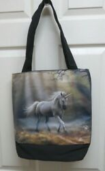 """Anne Stokes Fantasy Art quot;Glimpse of the Unicorn"""" Tote Bag by ACK for Nemesis Now $19.99"""