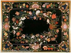 4and039x2and039 Marble Dining Side Table Top Rare Gemstone Pietradura Inlay Art Home Decor