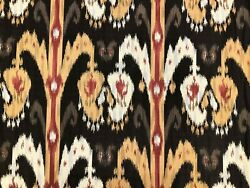 Kravet Couture 31361-614 Brown Mustard Yellow Beige Red Ikat Upholstery Fabric