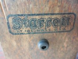 Very Vintage No.20 Starrett Precision Machinist Square In Orig. Wood Stand 24