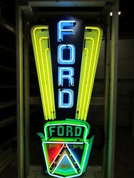 New Ford Jubilee Painted Neon Sign 6ft H X 32w - Neon Signs - Lifetime Warranty