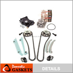 Timing Chain Kit Cam Phaser Water Pump Oil Pump For 05-09 Ford Mustang 4.6