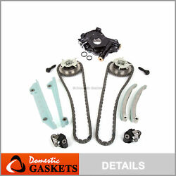 Timing Chain Kit Cam Phaser High Pressure Oil Pump For 05-10 Ford 4.6l Triton