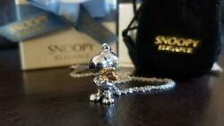 Snoopy Silver Necklace Pendant New From Japan F/s