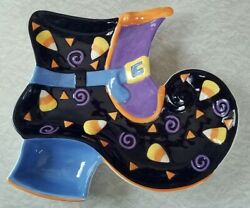 Halloween Chip Dip Dish Witch Shoe Holder Serving Bowl Candy Corn Jo-ann Stores