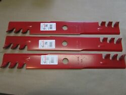 3 Pack Hd Mulching Blades 60 For Exmark Mower 103-6393 103-6398 Usa Made